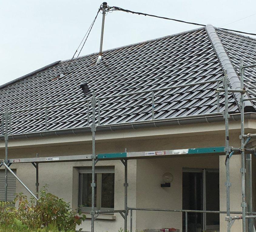 Pose d'une toiture à Flaxlanden (68)